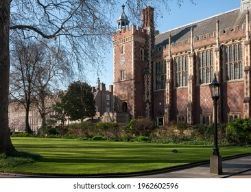 LONDON, UK - MARCH 28, 2012:  view of the Great Hall and Library at Lincoln's Inn, an Inn of Court in Holborn