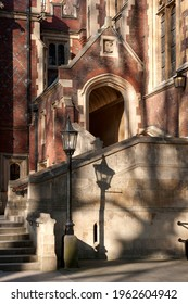LONDON, UK - MARCH 28, 2012:  Stairs leading to the Great Hall and Library at Lincoln's Inn, an Inn of Court in Holborn