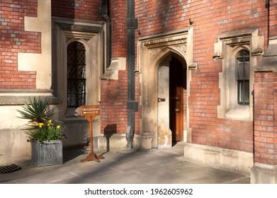 LONDON, UK - MARCH 28, 2012:  Ornate doorways at Lincoln's Inn an Inn of Court in Holborn