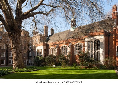 LONDON, UK - MARCH 28, 2012:  Exterior view of the Great Hall at Lincoln's Inn, an Inn of Court in Holborn