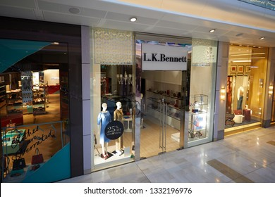 London, UK. - March 5, 2019: The LK Bennett store at the Westfield shopping mall, west London, pictured during the week the company has fallen into administration.