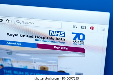 LONDON, UK - MARCH 5TH 2018: The homepage of the official website for the Royal United Hospitals Bath NHS Foundation Trust, on 5th March 2018.