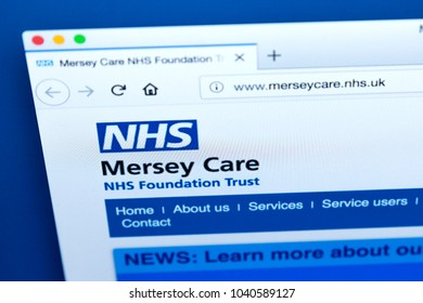 LONDON, UK - MARCH 5TH 2018: The homepage of the official website for the Mersey Care NHS Foundation Trust, on 5th March 2018.