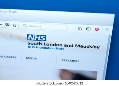 LONDON, UK - MARCH 5TH 2018: The homepage of the official website for the South London and Maudsley NHS Foundation Trust, on 5th March 2018.