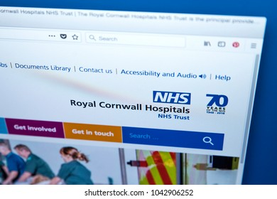 LONDON, UK - MARCH 5TH 2018: The homepage of the official website for the Royal Cornwall Hospitals NHS Trust, on 5th March 2018.