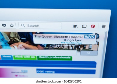 LONDON, UK - MARCH 5TH 2018: The homepage of the official website for The Queen Elizabeth Hospital Kings Lynn NHS Foundation Trust, in Norfolk, on 5th March 2018.