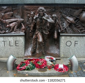 LONDON, UK - MARCH 7TH, 2018: Battle of Britain Whitehall Monument