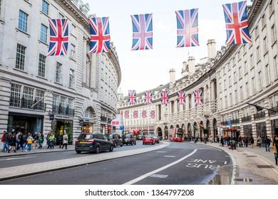 London, UK - May 02,2018 - Regent Street in London