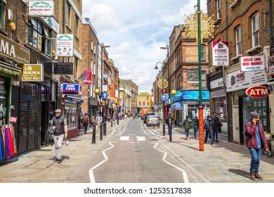 London, UK - May 03,2018 - Brick Lane in London
