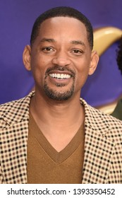 "LONDON, UK. May 09, 2019: Will Smith at the ""Aladdin"" premiere at the Odeon Luxe, Leicester Square, London.