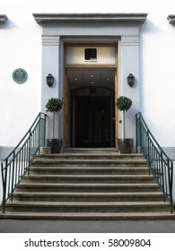 LONDON, UK - MAY 10: Entrance to the Abbey Road recording studios made famous by the 1969 Beatles album May 10, 2010 in London, UK