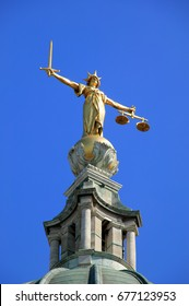 London, UK, May 11, 2008 :  Scales of Justice of the Central Criminal Court fondly known as the Old Bailey