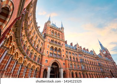 London, UK - May 12 2018: St Pancras station is a central London railway terminus. It is the terminal station for Eurostar continental services from London to France, Belgium and Netherlands
