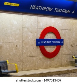 London, UK - May 12 2018: Heathrow Airport,  the second busiest airport in the world (after Dubai International Airport) by international passenger traffic