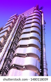 LONDON, UK - MAY 13, 2012: Lloyd's building in London. It was built in 1986 and is one of most recognizable London buildings. It is listed as grade I monument.