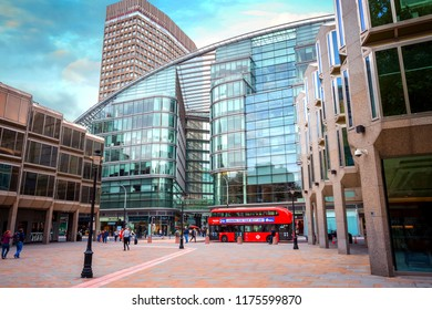 LONDON, UK - MAY 13 2018: Cardinal Place is a retail and office development in London opposite Westminster Cathedral, consists of 3 buildings covering over a million sq. feet on Victoria Street