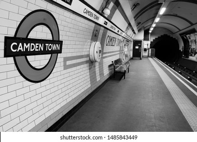 LONDON, UK - MAY 15, 2012: Camden Town underground station in London. London Underground is the 11th busiest metro system worldwide with 1.1 billion annual rides.
