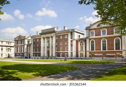 LONDON UK - MAY 15, 2014: Old English park south of London, classic architecture university building