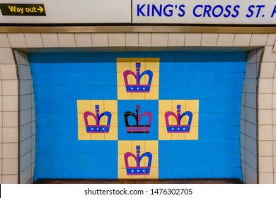 London, UK - May 16 2018: King's Cross railway station  is a Central London railway terminus on the northern edge of the city. It is one of the busiest railway stations in the United Kingdom