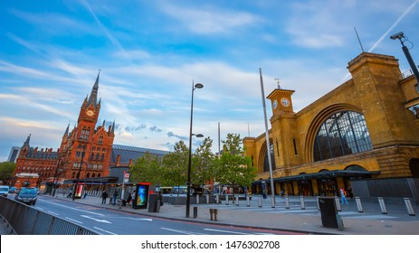 London, UK - May 16 2018: St Pancras station is a central London railway terminus. It is the terminal station for Eurostar continental services from London to France, Belgium and Netherlands