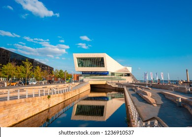 London, UK - May 17 2018: The Museum of Liverpool opened in 2011, reflects the city's global significance through its unique geography, history and culture