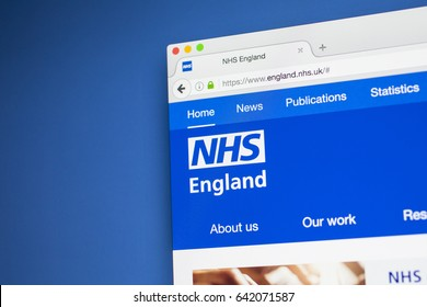 LONDON, UK - MAY 17TH 2017: The homepage of the official website for the National Health Service in England, on 17th May 2017.