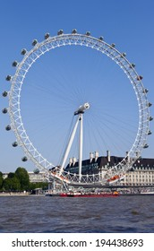 LONDON, UK - MAY 18TH 2014: A view of the magnificent London Eye in London on 18th May 2014.