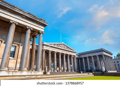 London, UK - May 20 2018: The British Museum is a public institution dedicated to human history, art and culture and is among the largest and most comprehensive in existence.