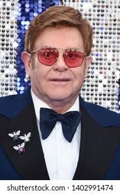 "LONDON, UK. May 20, 2019: Elton John arriving for the ""Rocketman"" UK premiere in Leicester Square, London.Picture: Steve Vas/Featureflash"