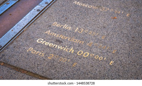 London, UK - May 21 2018: The Royal Observatory, Greenwich situated on a hill in Greenwich Park, best known for the fact that the prime meridian passes through