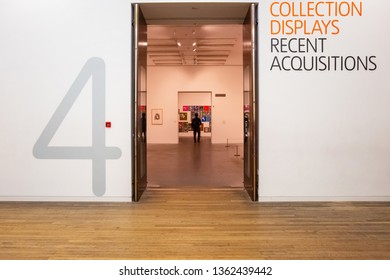 London, UK - May 22 2018: Tate Modern is a modern art gallery  houses international modern pieces of art of the Tate group