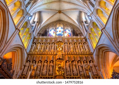 London, UK - May 22 2018: Southwark Cathedral has been a place of Christian worship for more than 1,000 years, but the architecure was reconstructed in late 19th-century