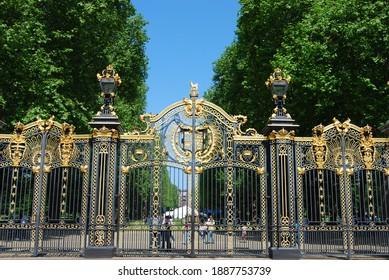 London, UK, May 24, 2009: Gate in Green Park near Buckingham Palace in London