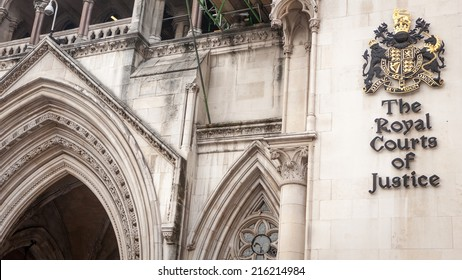 LONDON, UK - MAY 9, 2006: Known as The Law Courts, The Royal Courts of Justice houses the High Court and Court of Appeal of England and Wales.  Many high profile cases have been carried out here.
