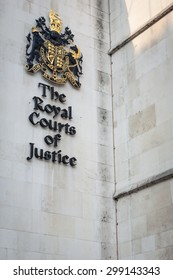 LONDON, UK - MAY 9, 2006: The Law Courts, The Royal Courts of Justice houses the High Court and Court of Appeal of England and Wales.  Many high profile case have been carried out here.