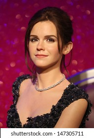 London, UK. The new waxwork figure of Emma Watson, at Madame Tussauds in London. 26th March 2013.