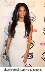 London, UK. Nicole Scherzinger at the Cosmopolitan Awards, held at the Victoria and Albert Museum in London. 30th October 2012.