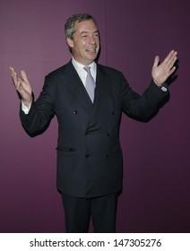 London, UK. Nigel Farage at the 8th British Curry Awards, held at Battersea Evolution, Chelsea Bridge Entrance. 26th November 2012.