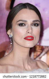 """LONDON, UK. November 01, 2018: Keira Knightley at the European premiere of """"The Nutcracker and the Four Realms"""" at the Vue Westfield, White City, London."""