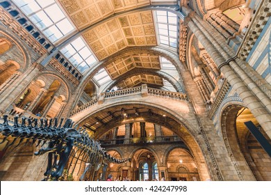 LONDON, UK - NOVEMBER 10, 2015: National History Museum, is one of the most favourite museum for families in London.
