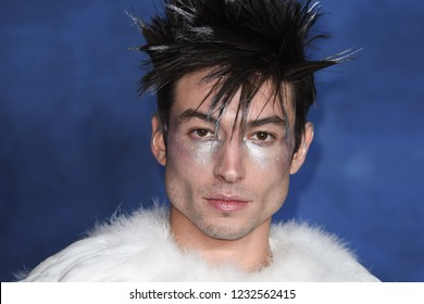 LONDON, UK. November 13, 2018: Ezra Miller at the premiere for Fantastic Beasts The Crimes of Grindelwald at Leicester Square.