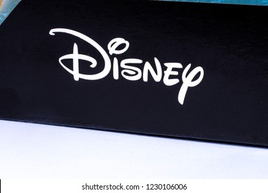 London, UK - November 14th 2018: The Disney company logo, pictured on product packaging.