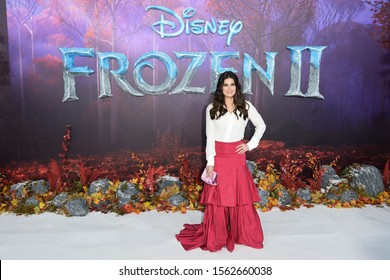 "LONDON, UK. November 17, 2019: Idina Menzel arriving for the ""Frozen 2"" European premiere at the BFI South Bank, London.