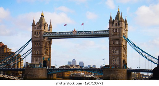 LONDON, UK – NOVEMBER 18, 2015: A shot of Tower Bridge in London city, England.