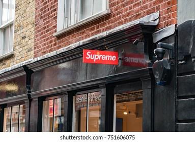 LONDON, UK - November 2, 2017: Supreme Store Logo
