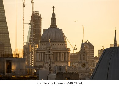 London, UK, NOVEMBER 2017: London skyline of a clear and cold morning on the 27th November 207