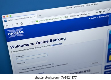LONDON, UK - NOVEMBER 22ND 2017: The homepage of the Online Banking area on the Halifax bank website, on 22nd November 22nd 2017.