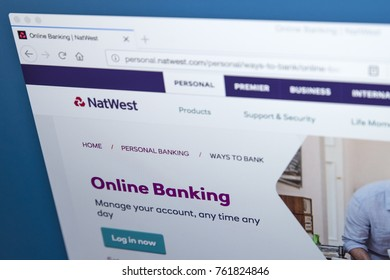 LONDON, UK - NOVEMBER 22ND 2017: The homepage of the Online Banking area on the Natwest bank website, on 22nd November 22nd 2017.