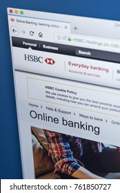 LONDON, UK - NOVEMBER 22ND 2017: The homepage of the Online Banking area on the HSBC bank website, on 22nd November 22nd 2017.