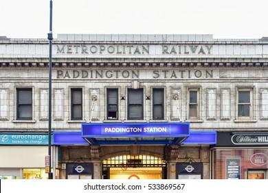 London, UK - November 24, 2016: Paddington Railway Station in London, United Kingdom.